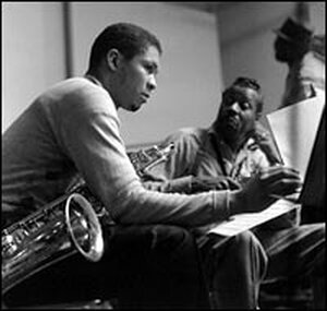 Frank Foster and fellow tenor saxophonist Eddie Davis.