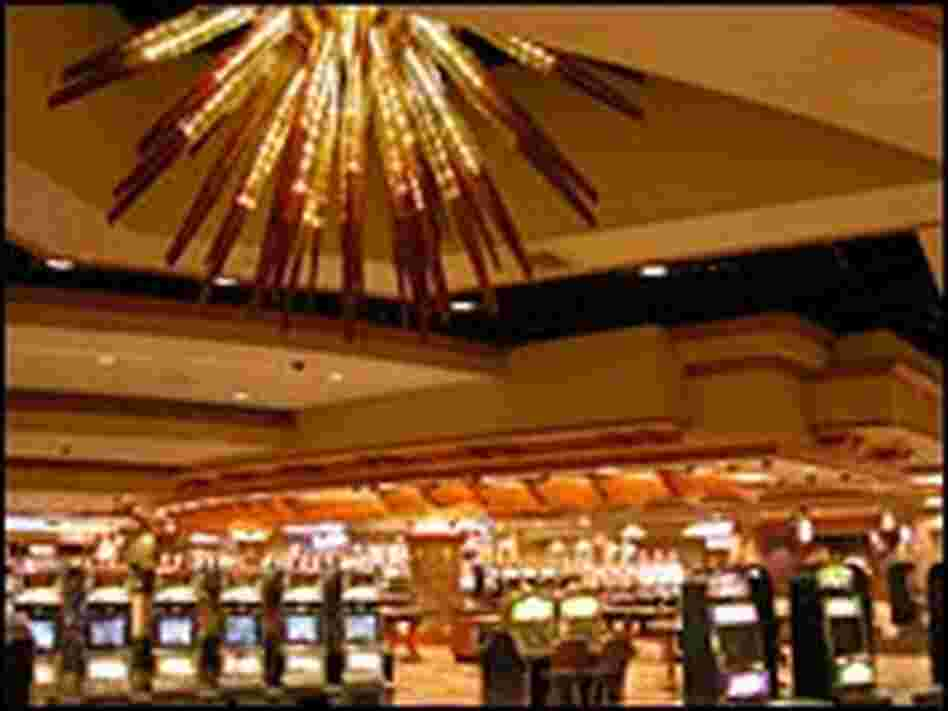 Inside the Chumash tribal casino in Santa Ynez, Calif.
