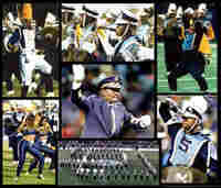 A montage of photos show the Southern University band in performance.