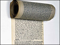 'On the Road' scroll