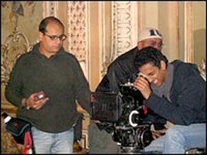 Marwan Hamed on set