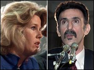 Tipper Gore and Frank Zappa