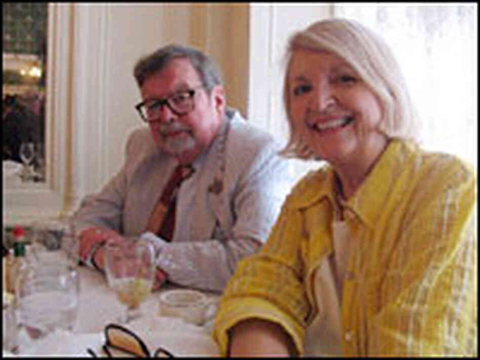 Authors Kenneth Holditch and Marda Burton dine at Galatoire's.