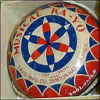 A musical yo-yo on display at the Smithsonian.