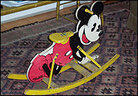 Mickey Mouse rocking chair owned by Maurice Sendak.