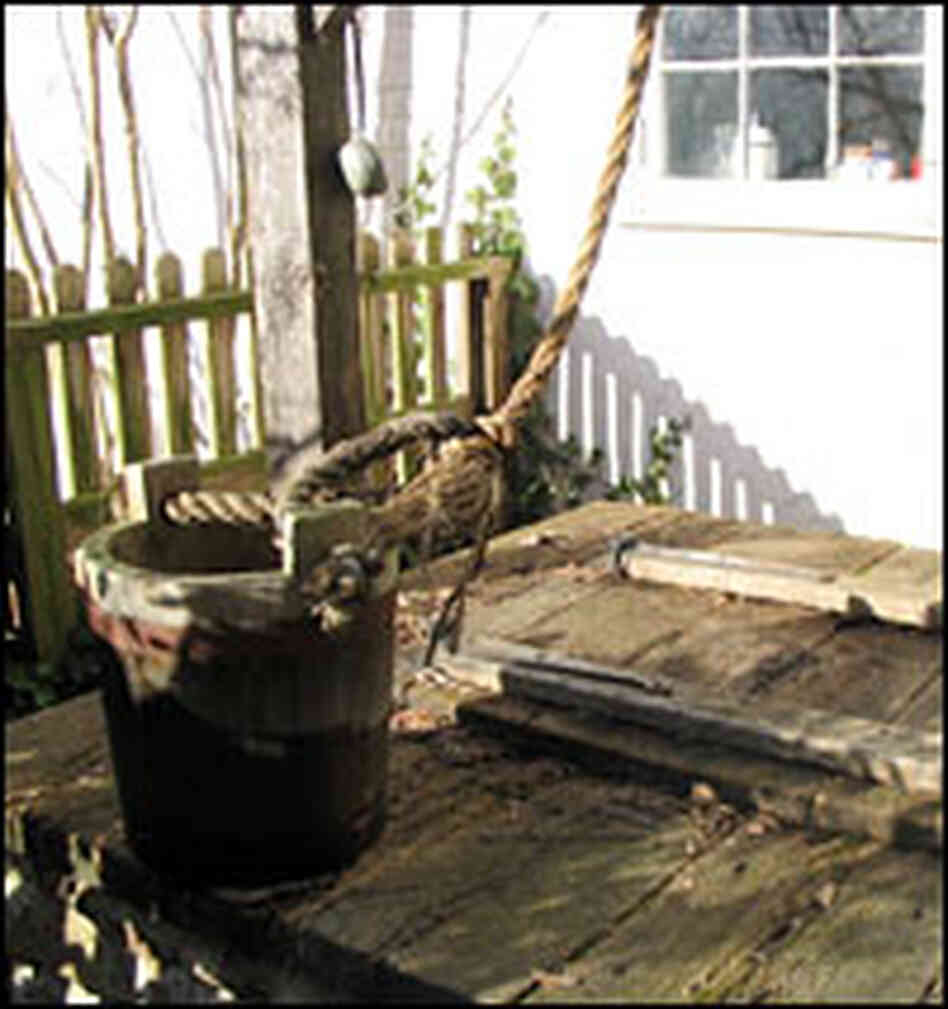 A Civil War-era well outside Brooks' home.