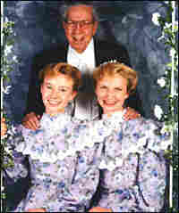 Rulon Jeffs with two of his reported wives