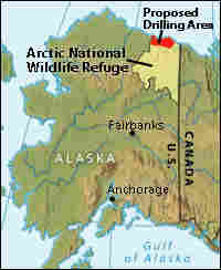 Map of the Arctic National Wildlife Refuge