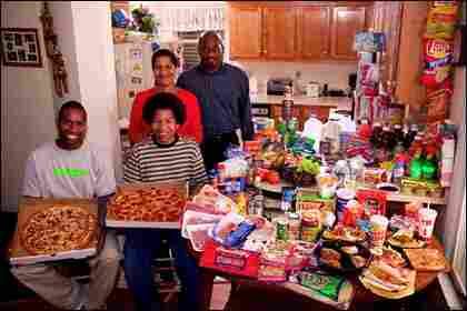 The Revis family, in the kitchen of their home in suburban Raleigh, N.C.