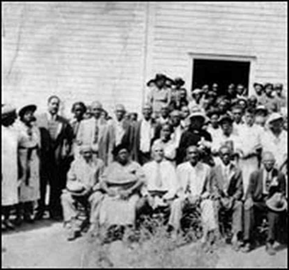 Group photo at the Sacred Harp Singing Convention