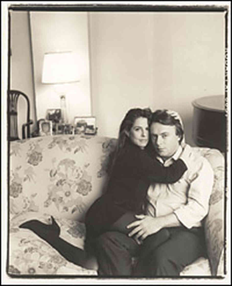 Christopher Hitchens and his wife, Carol Blue, in 1990