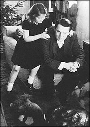 Madeleine Albright (nee Korbel) and her father Josef Korbel in 1943