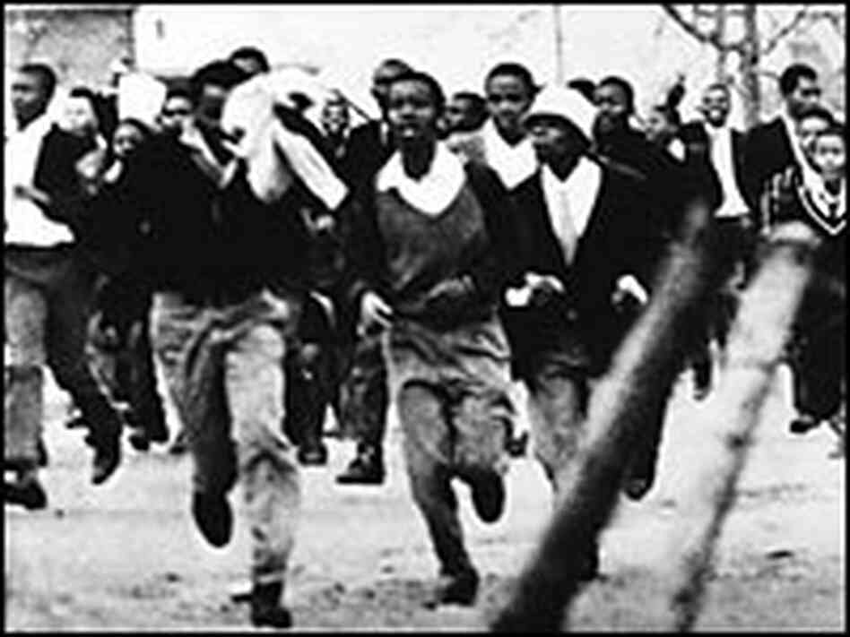 Schoolchildren from the poor township of Soweto during the uprising