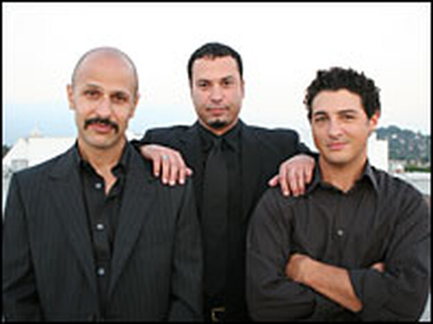 "(L to R) Maz Jobrani, Ahmed Ahmed and Aron Kader make up the ""Axis of Evil Comedy Tour."""