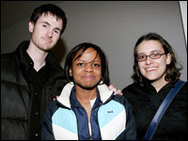 Writer and director Ryan Fleck, actress Shareeka Epps and writer Anna Boden attend a screening of <em>Half Nelson</em> at New York's Museum of Modern Art in March.