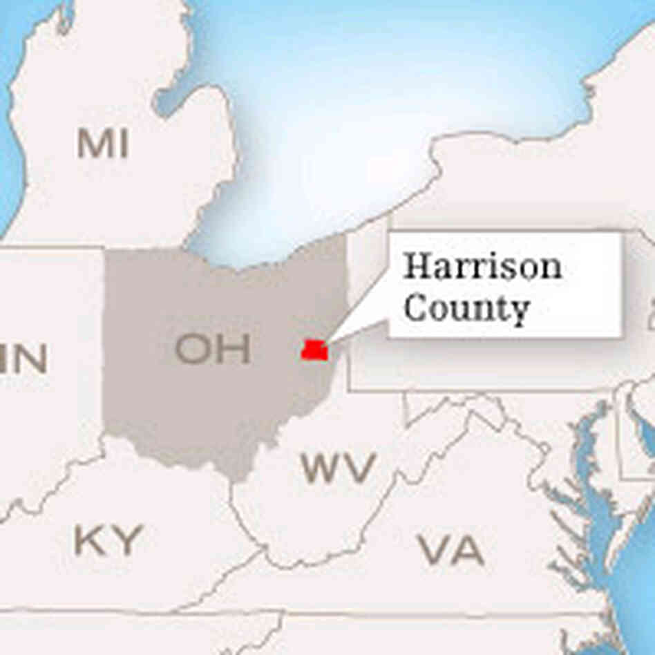 Harrison County map