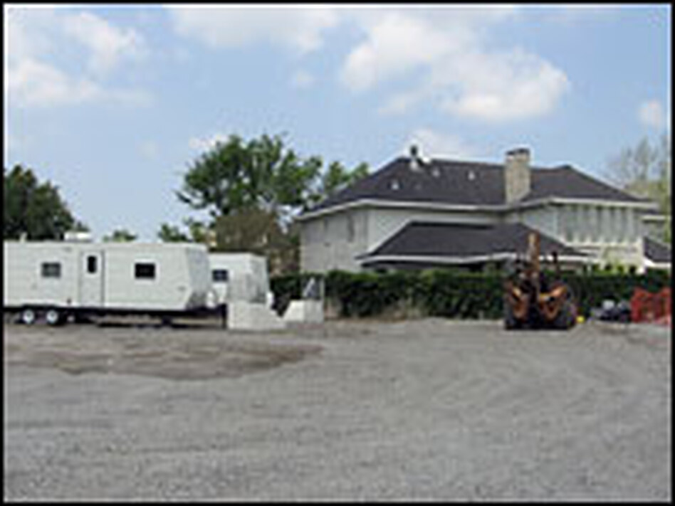 The contentious trailer park in the Algiers neighborhood of New Orleans abuts single-family houses. Mayor Ray Nagin said FEMA went against the city's wishes by building it.