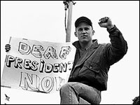 Deaf president now essays