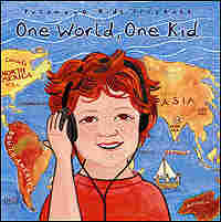 Cover of the CD 'One World, One Kid' shows a cartoon version of Skyler Pia.