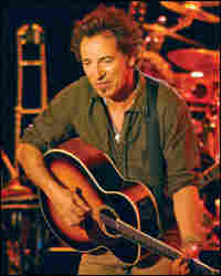 Bruce Springsteen performing at the Asbury Park Convention Hall on April 24.
