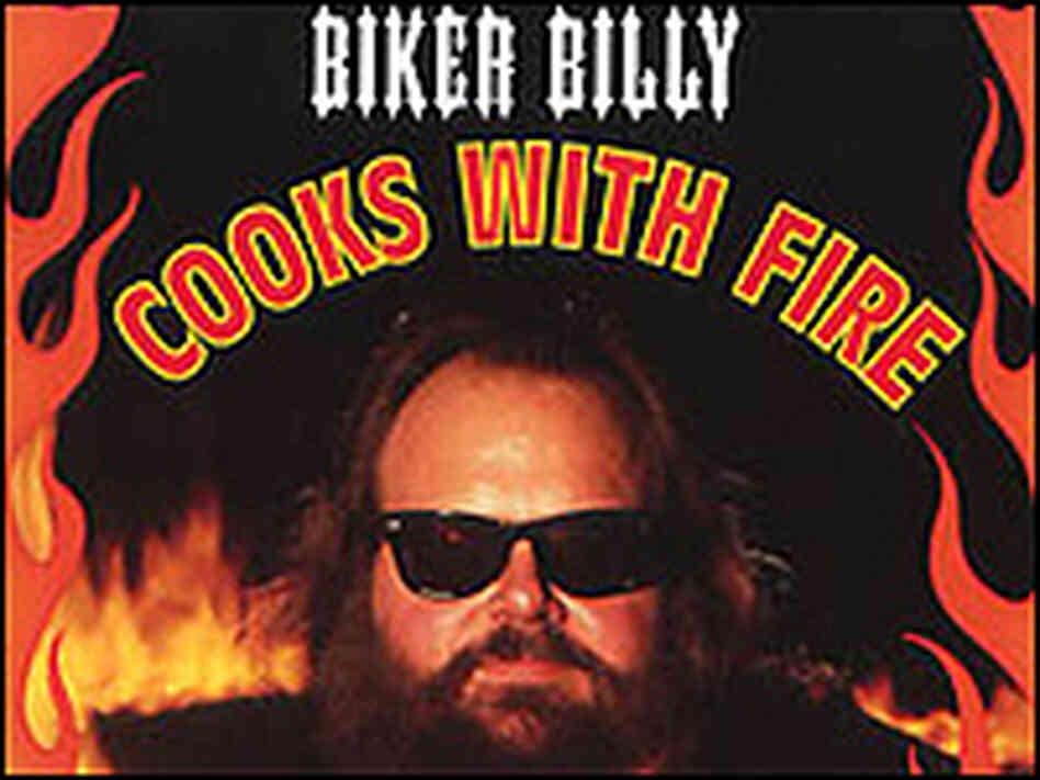 Biker Billy from the cover of his latest book.