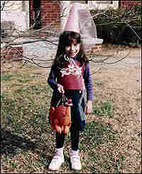 Alix Black in a childhood photo, dressed as a young fairy princess.