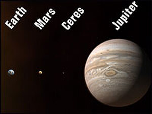 An artist's conception of the our solar system's new planetary lineup,