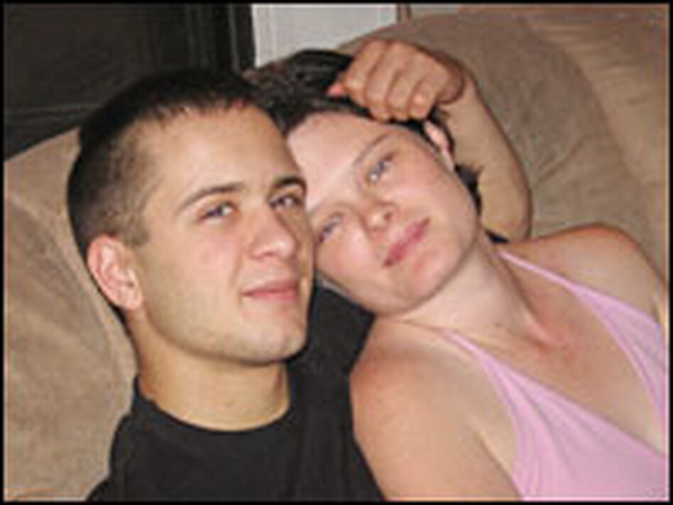 """<strong>Alex Orum</strong>, pictured with his wife Donna, was diagnosed with PTSD. He was dismissed from the Army earlier this year for """"patterns of misconduct"""" — such as showing up late to formation and coming to work unwashed. Psychiatrists say such behaviors are consistent with PTSD."""