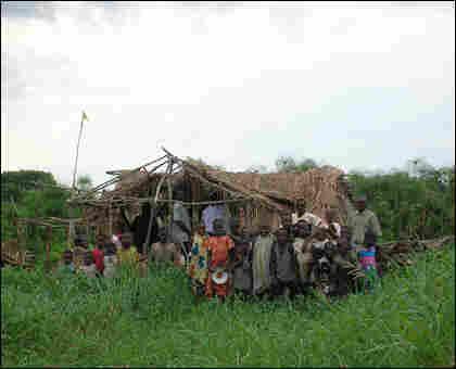 Refugees at Lake Upemba