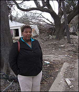 Pam Dashiell, a community activist in New Orleans' Lower Ninth Ward.