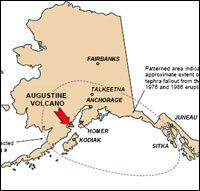 Alaska Map Volcano.Alaskan Volcano Erupts For First Time In 20 Years Npr