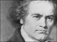 Beethoven, from a sketch in the early 1800s.