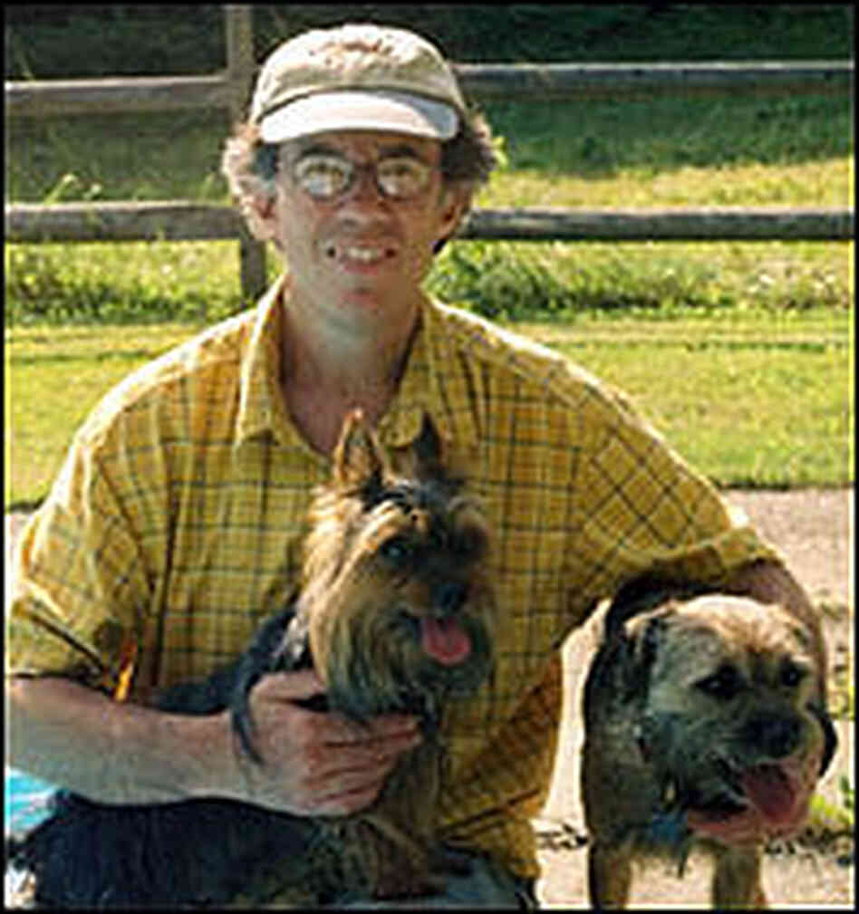 Bruce Blumberg with his pet dogs, Sy