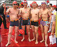 Swimmers at the Pearl River Swimathon