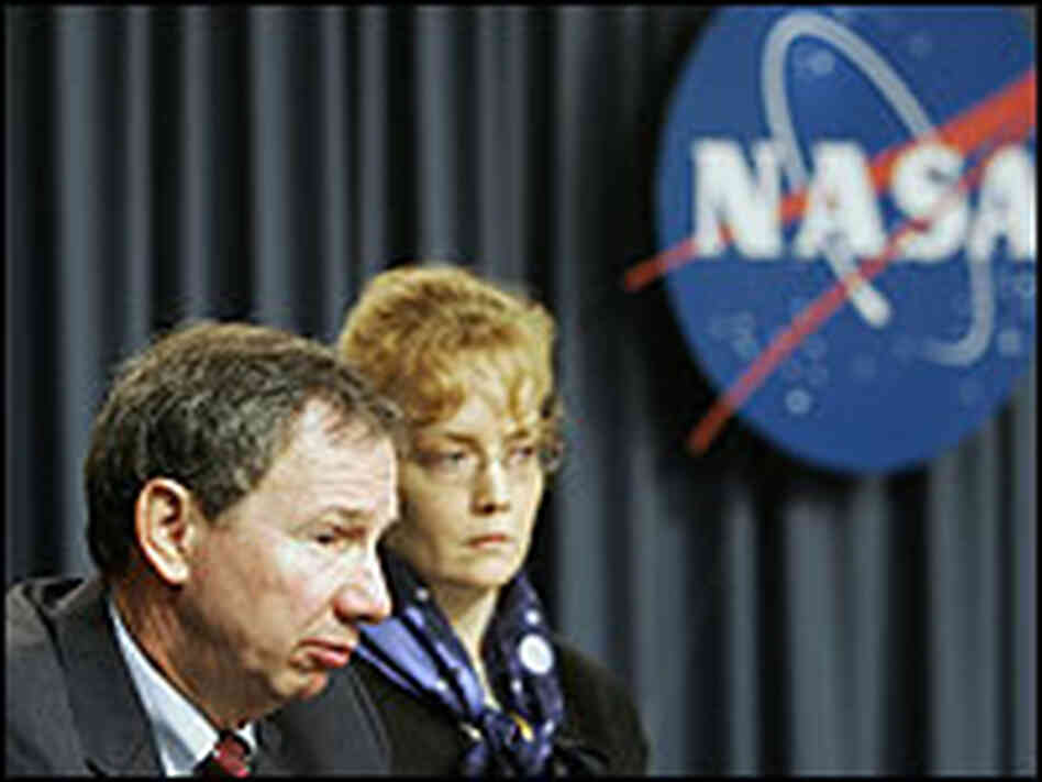 NASA Administrator Michael Griffin, seen here with Deputy Administrator Shanna Dale