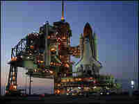 Discovery on the launch pad at the Kennedy Space Center, Cape Canaveral, Fla.