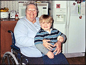 Linda Warner and her great grandson, Bryson.