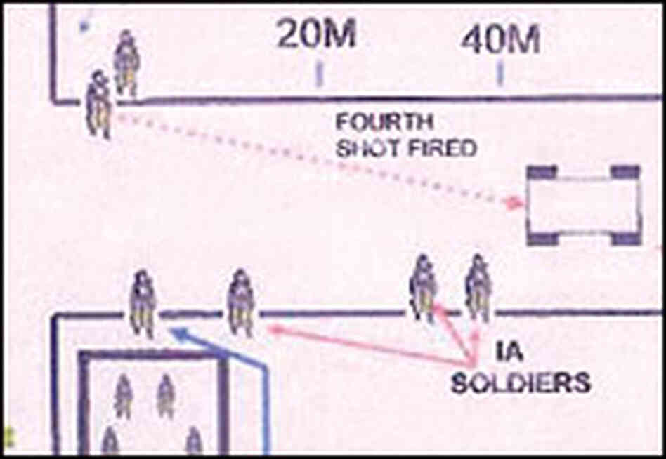 A U.S. Army diagram of the shooting