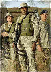 Dennis Haysbert, center, stars in 'The Unit,' along with Scott Foley, left, and Robert Patrick.
