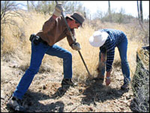 Doug (right) and Brad Siegel of Sonoran Desert Weedwhackers