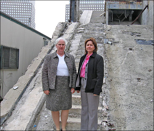 Stairway B Wtc North Tower : Ground zero stairs named to historic list ncpr news