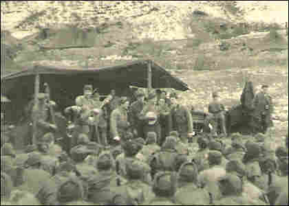 """The Four Fifiths"" of the 45th Division entertaining the troops."