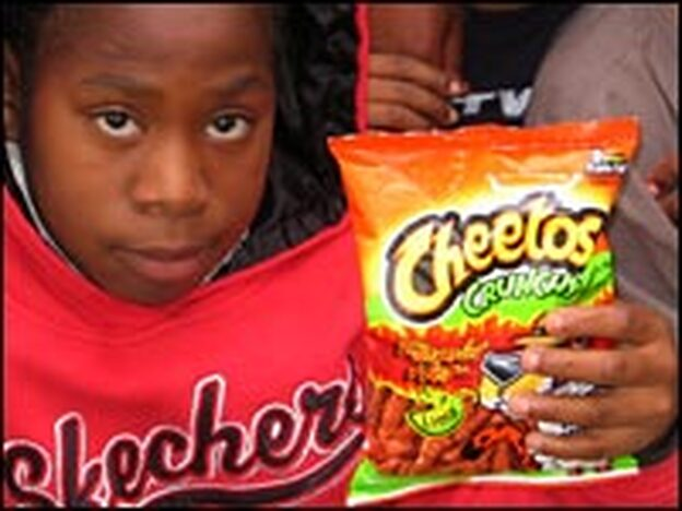 Olivia Thomas, 11, is a 5th grader at Jackson Elementary School in Pasadena, Calif., and a big fan of Hot Cheetos.