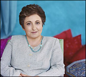 Shirin Ebadi, winner of the 2003 Nobel Peace Prize and author of the memoir 'Iran Awakening'