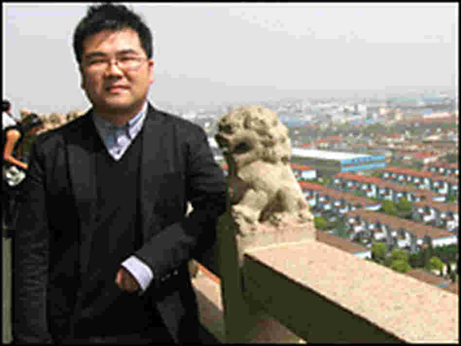 Huaxi resident Wu Hao, 26, runs an import-export business. Note the Dolce and Gabbana sunglasses.