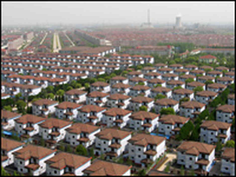 From above, Huaxi looks like an American suburb.