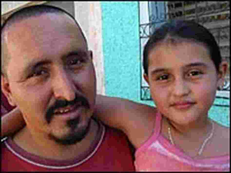 Ernesto Miranda, aka Smokey, pictured in 2005 with his daughter Maybelline