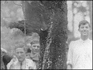 Jesse Washington was pulled up City Hall's hanging tree and then burned.