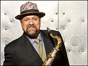 Joe Lovano with his saxophone