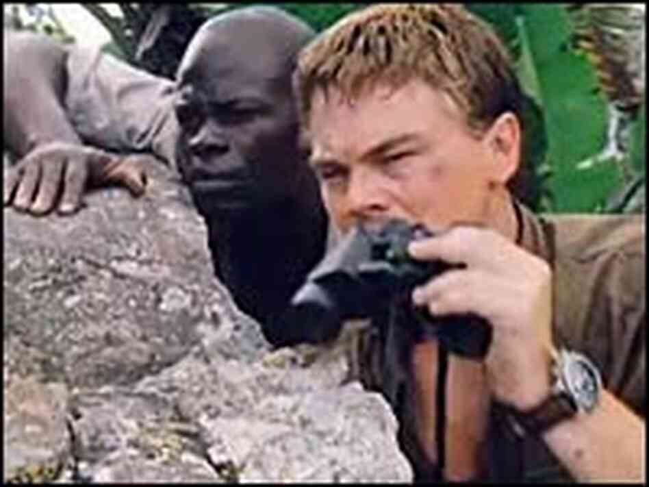 Djimon Hounsou and Leonardo DiCaprio